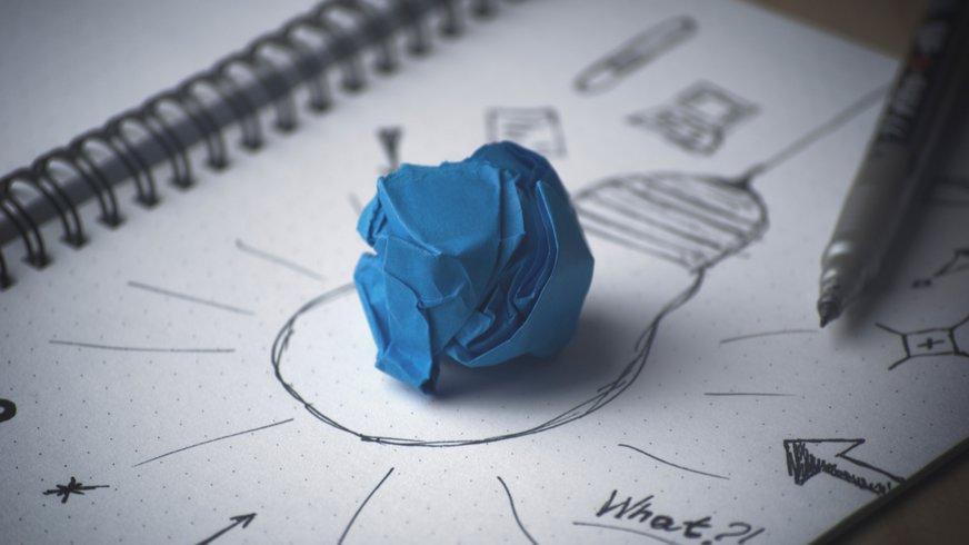 Illustration einer Idee auf einem Zettel