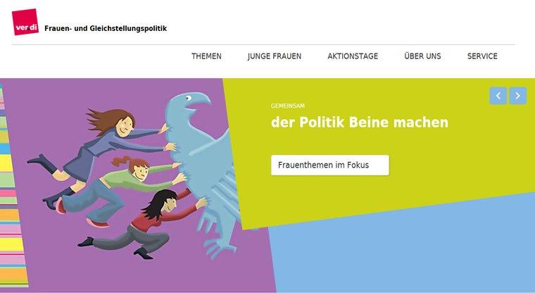 Website Frauen- und Gleichstellungspolitik in ver.di