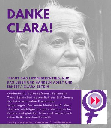 Portrait von Clara Zetkin mit Biografie