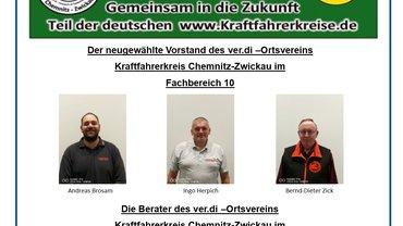 Flugblatt zur Wahl des Vorstandes vom Neuen ver.di-Ortsverein im Fachbereich 10 in Chemnitz und Zwickau