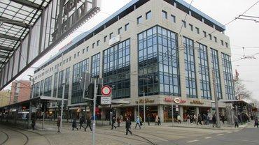 Der Standort von majorel befindet sich im Chemnitz Plaza direkt an der Zentralhaltestelle